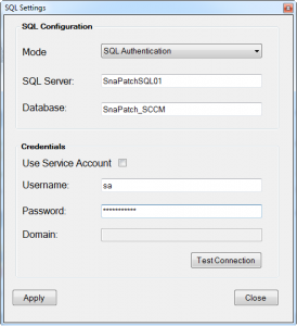 SnaPatch Patch Management Software Database Window