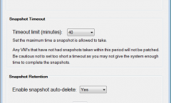 SnaPatch Patch Management Software General Settings Window