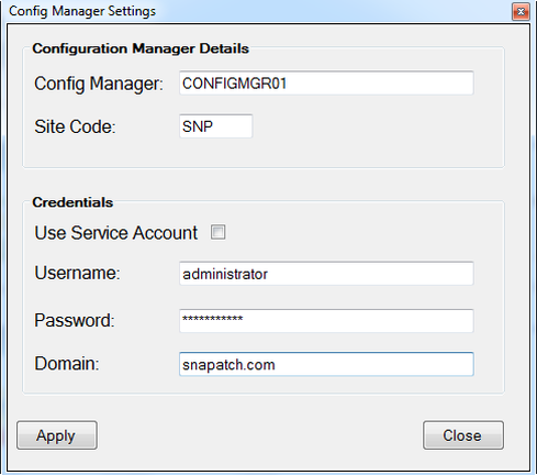 SnaPatch Patch Management Software SCCM Window
