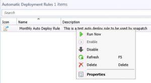 SCCM Auto Deployment Rule