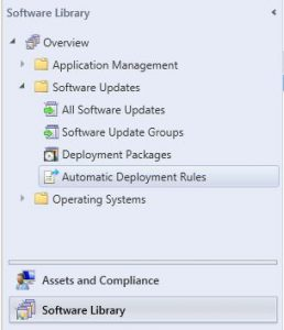 SCCM Software Library