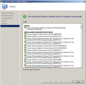 SCCM Manual Update Deployment