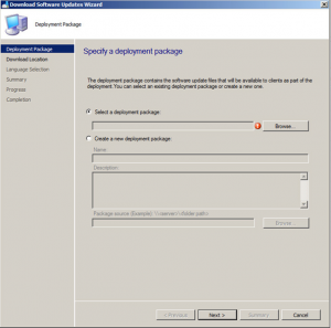 Manual Updates Deployment SCCM