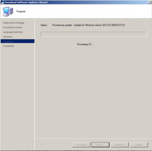 SCCM Manual Updates Deployment