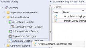 SCCM Automatic Deployment Rule