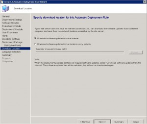 SCCM ADR Download Location