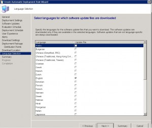 SCCM ADR Language Selection