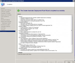 SCCM ADR Completion