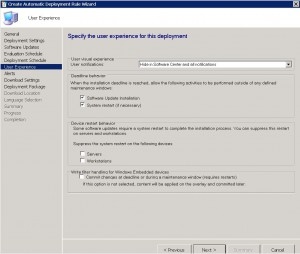 SCCM User Experience