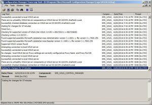 WSUS Control Log