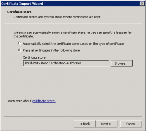 Third-Party Root Certification Authorities