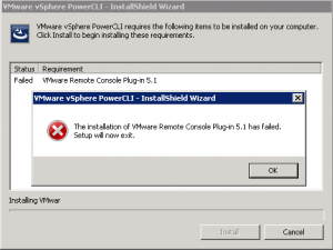 VMWare PowerCLI Installation error