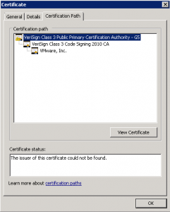 VeriSign Root Certificate