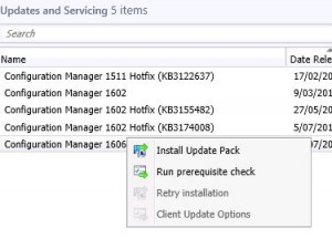 SCCM 1606 Prerequisite check