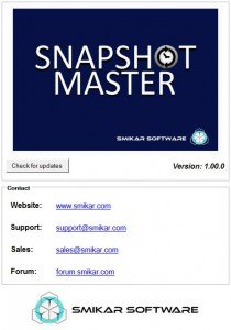 SnapShot Master Version