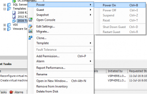 VMWare Template Creation Power OnVMWare Template Datastore