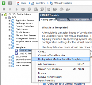 New Vmware Customisation