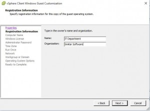 Vmware Customisation
