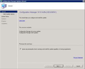 KB3209501 Install 2