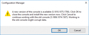Sccm 1810 Upgrade Console Update