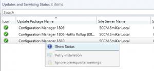 Sccm 1810 Upgrade Show Status