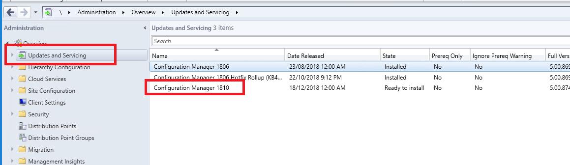 How to upgrade to SCCM 1810 - SmiKar Software