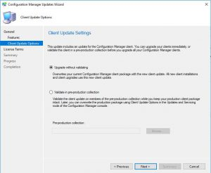 SCCM 1902 Upgrade Collections