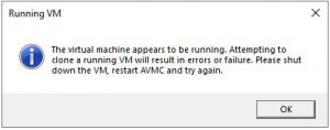Clone Azure VM running VM