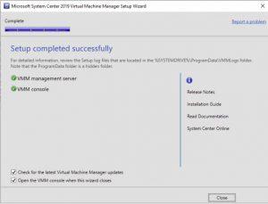 SCVVM 2019 Install Guide Step 44