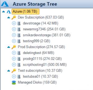 Azure Storage Tree View