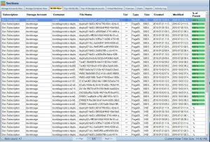 Cloud Storage Manager Azure Storage Blobs Tab