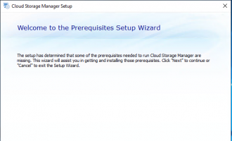 Cloud Storage Manager Install 1