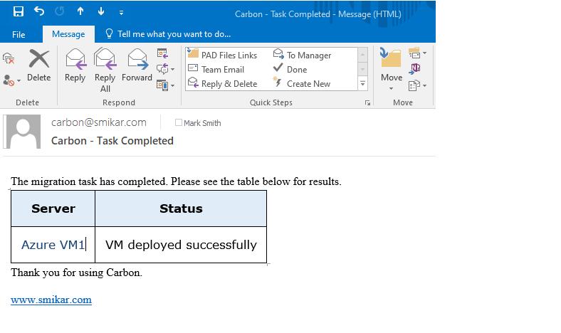 Azure VM Download Email